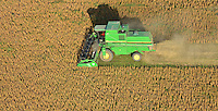 Cosecha de soja cerca de Rojas, provincia de Buenos Aires, argentina..Harvest of soybean or soy near Rojas, provincia de Buenos Aires16/05/2012.Aerial view of soy harvest in the rich lands of Buenos Aires province, near the city of Rojas, Argentina.Cosecha de soja cerca de Rojas, provincia de Buenos Aires, argentina..