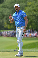 Andrew Putnam (USA) sinks his birdie putt on 8 during 3rd round of the 100th PGA Championship at Bellerive Country Club, St. Louis, Missouri. 8/11/2018.<br /> Picture: Golffile | Ken Murray<br /> <br /> All photo usage must carry mandatory copyright credit (&copy; Golffile | Ken Murray)