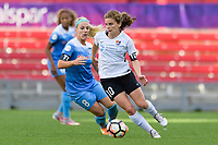 Bridgeview, IL - Sunday June 25, 2017: Julie Johnston Ertz, Daphne Corboz during a regular season National Women's Soccer League (NWSL) match between the Chicago Red Stars and Sky Blue FC at Toyota Park. The Red Stars won 2-1.
