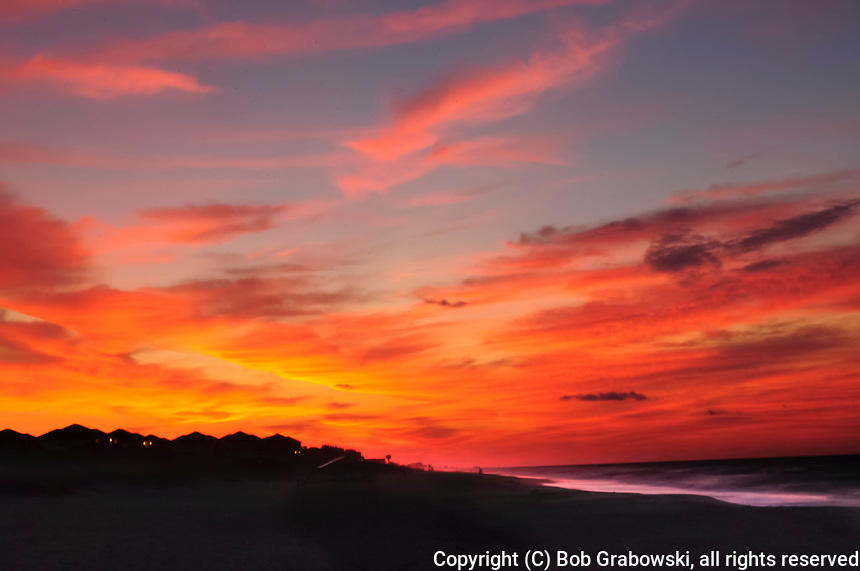 Sunrise over Emerald Isle And the Atlantic Ocean in North Carolina