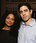 """Rebecca Naomi Jones and Damon Daunno attends the Rodgers & Hammerstein's """"Oklahoma!"""" Cocktail Party at Bob's Steak & Chop House on February 19, 2019 in New York City."""
