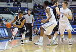 February 28, 2015 - Colorado Springs, Colorado, U.S. -  Utah State guard, Julion Pearre #5, drives for the basket during an NCAA basketball game between the Utah State Aggies and the Air Force Academy Falcons at Clune Arena, U.S. Air Force Academy, Colorado Springs, Colorado.   Utah State defeats Air Force 74-60.