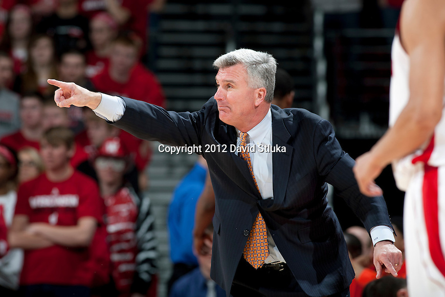 Illinois Fighting Illini Head Coach Bruce Weber during a Big Ten Conference NCAA college basketball game against the Wisconsin Badgers on Sunday, March 4, 2012 in Madison, Wisconsin. The Badgers won 70-56. (Photo by David Stluka)