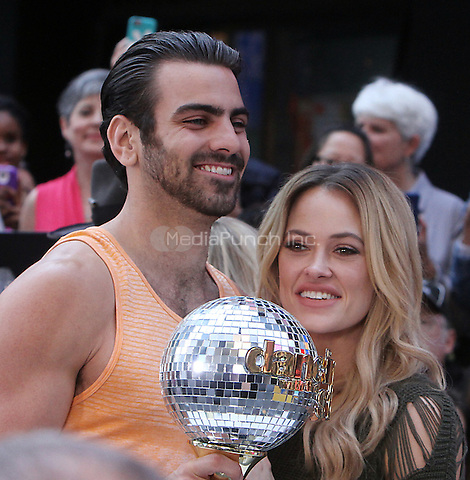 NEW YORK, NY-May 25: Nyle DiMarco Peta Murgatroyd,  winner of season 22 of Dancing with the Stars at Good Morning America in New York. NY May 25, 2016. Credit:RW/MediaPunch