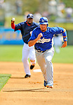 15 March 2008: Los Angeles Dodgers' outfielder Jason Repko is caught in a rundown during a Spring Training game against the Washington Nationals at Space Coast Stadium, in Viera, Florida...Mandatory Photo Credit: Ed Wolfstein Photo