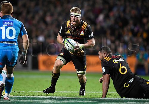 08.04.2016. Hamilton, New Zealand.  Sam Cane during the Blues versus Chiefs Super Rugby match at Waikato Stadium, Hamilton, New Zealand. Friday 8 April 2016.