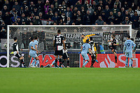 26th November 2019; Allianz Stadium, Turin, Italy; UEFA Champions League Football, Juventus versus Atletico Madrid; Paulo Dybala of Juventus  scoring the goal for 1-0 for Juventus directly from a free kick in the 46th minute  - Editorial Use