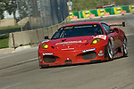 1 September 2007: The Risi Competizione Ferrari F430 GT driven by Jaime Melo (BRA) and Mika Salo (FIN) at the Detroit Sports Car Challenge presented by Bosch, Detroit, MI