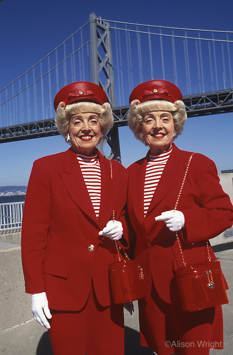 MR - Marian and Vivian Brown, the famous San Francisco Twins.