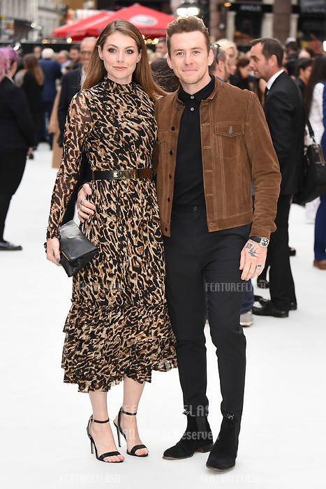 LONDON, UK. September 12, 2018: Georgia Jones &amp; Danny Jones at the World Premiere of &quot;King of Thieves&quot; at the Vue Cinema, Leicester Square, London.<br /> Picture: Steve Vas/Featureflash