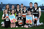 Looking forward to the St. Paul's Basketball Club Juvenile Easter Camp were front from left, Lyselle O'Shea, Rebecca O'Shea, Kieran Pierce and Ellen Corridan. Back from left are Tara O'Shea, Mark Moriarty, Michael Pierce, Billy Courtney, Mark O'Shea, Ewan Weldon and Isabelle Corridan. The camp will take place at the Killarney Sports and Leisure Centre on April 3, 4 and  5. Picture: Eamonn Keogh (MacMonagle, Killarney)
