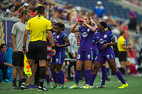 Orlando, FL - Sunday June 26, 2016: Alex Morgan  during a regular season National Women's Soccer League (NWSL) match between the Orlando Pride and the Portland Thorns FC at Camping World Stadium.