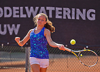Netherlands, Rotterdam August 07, 2015, Tennis,  National Junior Championships, NJK, TV Victoria, Carmen van Poelgeest<br /> Photo: Tennisimages/Henk Koster