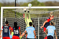 Piscataway, NJ, April 24, 2016.  Sky Blue FC goalkeeper Caroline Casey (27).  The Washington Spirit defeated Sky Blue FC 2-1 during a National Women's Soccer League (NWSL) match at Yurcak Field.