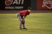 AZL Diamondbacks left fielder Alek Thomas (5) during an Arizona League game against the AZL Cubs 1 at Sloan Park on June 18, 2018 in Mesa, Arizona. AZL Diamondbacks defeated AZL Cubs 1 7-0. (Zachary Lucy/Four Seam Images)