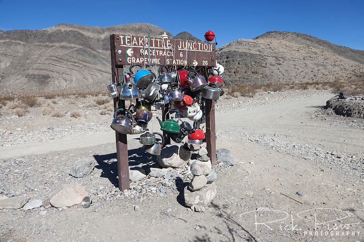 Teakettle Junction along Racetrack Road in Death Valley National Park.