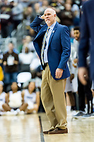 Washington, DC - MAR 10, 2018: St. Bonaventure Bonnies head coach Mark Schmidt on the sideline during semi final match up of the Atlantic 10 men's basketball championship between Davidson and St. Bonaventure at the Capital One Arena in Washington, DC. (Photo by Phil Peters/Media Images International)