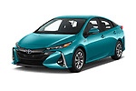 2019 Toyota Prius-Plug-in-Hybride Comfort 5 Door Hatchback Angular Front automotive stock photos of front three quarter view