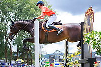 NZL-Brayden Aarts rides Thoroughbred Floats Binverter during the Sponsors Charity Challenge. 2018 NZL-Continental Cars Audi Waitemata World Cup Festival. Woodhill Sands. Helensville, Auckland. Copyright Photo: Libby Law Photography