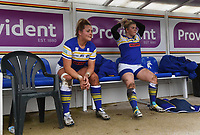 Picture by Anna Gowthorpe/SWpix.com - 15/04/2018 - Rugby League - Womens Super League - Bradford Bulls v Leeds Rhinos - Coral Windows Stadium, Bradford, England - Replacements on the Leeds Rhinos team bench