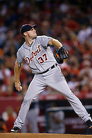 Max Scherzer #37 of the Detroit Tigers pitches against the Los Angeles Angels at Angel Stadium on September 7, 2012 in Anaheim, California. Los Angeles defeated Detroit 3-2. (Larry Goren/Four Seam Images)