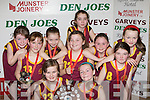 The Castleisland Presentation team that defeated Firies in the District NS Girls Junior A final at the St Mary's Basketball Blitz in Castleisland on Wednesday front row l-r: Chloe Scollard, Labhaoise Walmsley. Back row: Shauna Ahern, Darya O'Connell, Laura Fleming, Roisin Horan, Aine O'Connor, Nicole Downey, Roseanne O'Shea and Anna Lynch