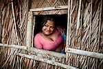 Asia, Bangladesh October 2012:  Sex Worker waiting for clients in Bani Shanta, one of the 14 official brothels in Bangladesh, a Muslim nation where prostitution is considered legal, October 2012, ©GIULIO DI STURCO