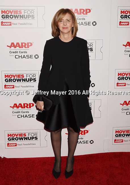 BEVERLY HILLS, CA - FEBRUARY 08: Writer Nancy Meyers attends AARP's Movie For GrownUps Awards at the Regent Beverly Wilshire Four Seasons Hotel on February 8, 2016 in Beverly Hills, California.