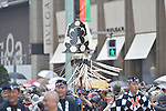 Mar 27, 2013 : March 27, 2013, Tokyo, Japan - Kabuki actors during a parade in the rain through the main street of Tokyo Ginza shopping district on Wednesday, March 27, 2013, in celebration of the grand opening of new Kabuki theater. After three years of renovation, the majestic theater for Japan centuries-old performing arts of Kabuki will open its doors to the public with a three-month series of most sought-after plays. (Photo by Jun Tsukida/AFLO)