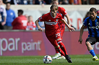 Bridgeview, IL - Saturday, April 1, 2017: The Chicago fire played the Montreal Impact in a Major League Soccer (MLS) game at Toyota Park.