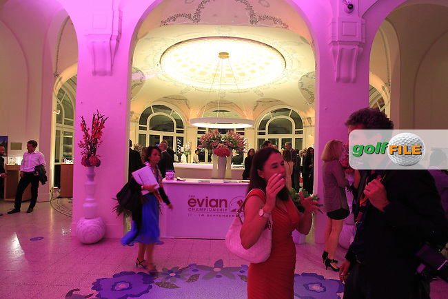 Gala Dinner to celebrate the 20th anniversary of the Evian Championship held at the Hotel Royal after Saturday's Round 3 of The Evian Championship 2014 held at the Evian Resort Golf Club, Evian-les-Bains, France.: Picture Eoin Clarke, www.golffile.ie: 13th September 2014