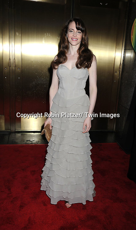 "Maria Dizzia, nominee for ""In the Next Room or the Vibrator Play"" arriving at The 61st Annual Tony Awards on June 13, 2010 at Radio City Music Hall in New York City."
