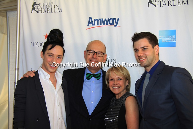 Johnny Weir - Harry Smith - Andrea Joyce - Tim Morehouse - The 2013 Skating with the Stars- a benefit gala for Figure Skating in Harlem on April 8, 2013 at Trump Wollman Rink, New York City, New York. (Photo by Sue Coflin/Max Photos)