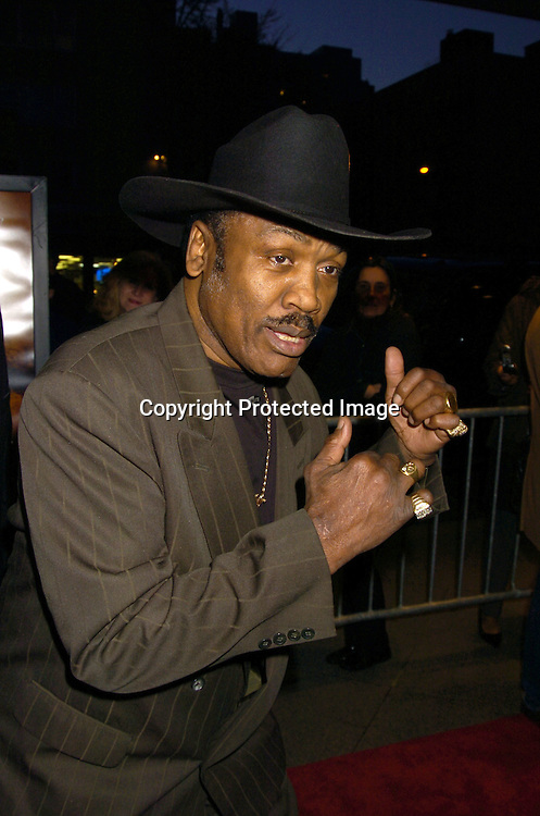 """Joe Frazier ..at the World Premiere of """"Ring of Fire: The Emile Griffith Story"""" at The Beekman Theatre on April 13, 2005 ...The film was directed by Dan Klores and Ron Berger..and will be shown on USA Network on April 20, 2005. ..Photo by Robin Platzer, Twin Images..."""