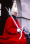 ATBK89 Horse guard soldier Whitehall London England