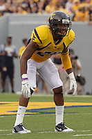 WVU defensive back Eain Smith. The WVU Mountaineers beat the Marshall Thundering Herd 34-13 in a game called just after the fourth quarter started because of severe thunderstorms in the area. The game was played at Milan Puskar Stadium in Morgantown, West Virginia on September 4, 2011.