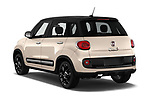 Car pictures of rear three quarter view of 2016 Fiat 500L Trekking 5 Door Mini MPV Angular Rear