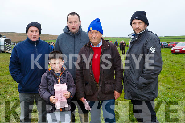 At the Ballyheigue Coursing on Sunday were francie Houlihan, Callum O'shea, Mike O'Shea, Richie Houlihan, Darren Houlihan