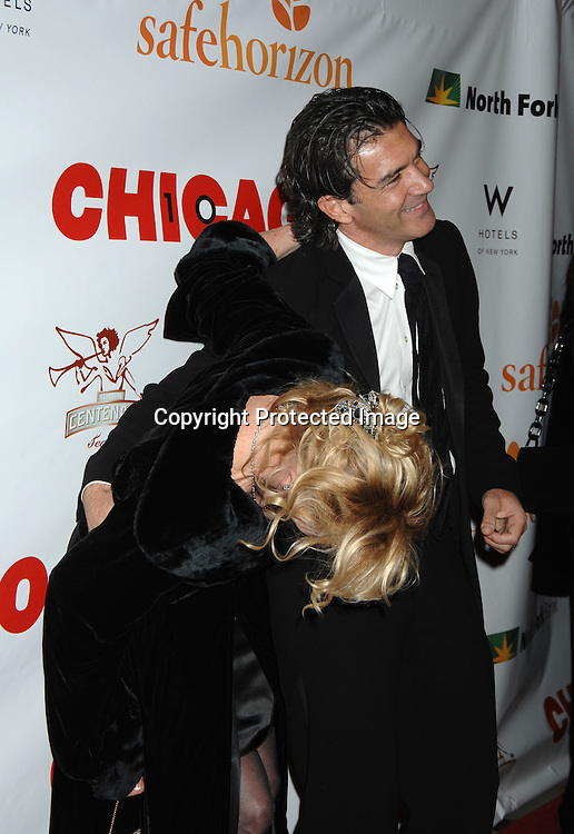 "Melanie Grittith and husband Antonio Banderas..arriving at The Party for ""Chicago"" The Musical's 10 year Anniversary on November 14, 2006 at New World Stages. ..It was a benefit for Safe Horizon. ..Robin Platzer, Twin Images"