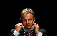 Mediator Middle East Quartet  Tony Blair  during  press conference of the Meeting of the Quartet of Middie East Peace Mediators at Centro Cultural Belém in Lisbon 20 July 2007.