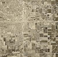 historical aerial photograph Visalia, Tulare county, California, 1969