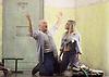 Lady Macbeth of Mtsensk<br /> by Dmitri Shostakovich <br /> English National Opera, London Coliseum, London, Great Britain <br /> rehearsal <br /> 24th September 2015 <br /> <br /> <br /> <br /> <br /> John Daszak as Sergei <br /> <br /> <br /> <br /> <br /> Rosie Aldridge as feamle convict <br /> <br /> <br /> <br /> <br /> Photograph by Elliott Franks <br /> <br /> Image licensed to Elliott Franks Photography Services