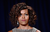 First lady Michelle Obama attends the annual White House Correspondent's Association Gala at the Washington Hilton hotel April 25, 2015 in Washington, D.C. The dinner is an annual event attended by journalists, politicians and celebrities.<br /> Credit: Olivier Douliery / Pool via CNP
