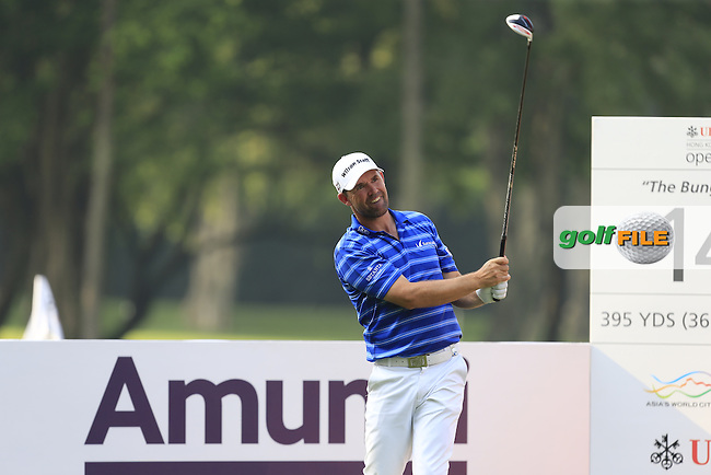 Padraig Harrington (IRL) on the 14th tee during Round 1 of the 2015 UBS Hong Kong Open at the Hong Kong Golf Club in The Netherlands on 2/10/15.<br /> Picture: Thos Caffrey | Golffile