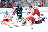 Sean Maguire (BU - 31), Shawn Pauly (UConn - 9), Patrick Kirtland (UConn - 24), John MacLeod (BU - 16), Doyle Somerby (BU - 27) - The Boston University Terriers defeated the visiting University of Connecticut Huskies 4-2 (EN) on Saturday, October 24, 2015, at Agganis Arena in Boston, Massachusetts.