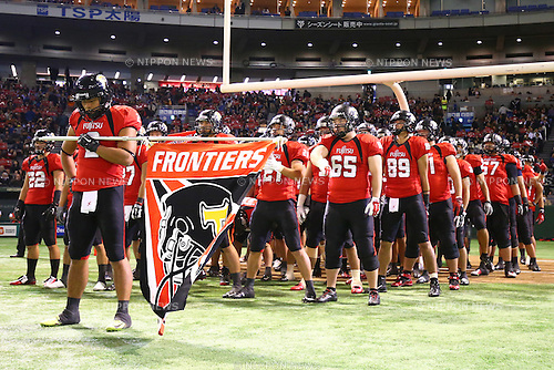 Panasonic Impulse team group (),<br /> DECEMBER 14, 2015 - American Football : <br /> The 29th Japan American Football Championship<br /> &quot;Japan X Bowl 29&quot; <br /> between Panasonic Impulse 24-21 Fujitsu Frontiers <br /> at Tokyo Dome, Tokyo, Japan. <br /> (Photo by Shingo Ito/AFLO SPORT)