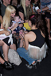 03.09.2012. Celebrities attending the Carlos Diez and Maria Escote fashion show during the Mercedes-Benz Fashion Week Madrid Spring/Summer 2013 at Ifema. In the image Geraldine Larrosa, her daughter Scarlett and Pilar Rubio (Alterphotos/Marta Gonzalez)