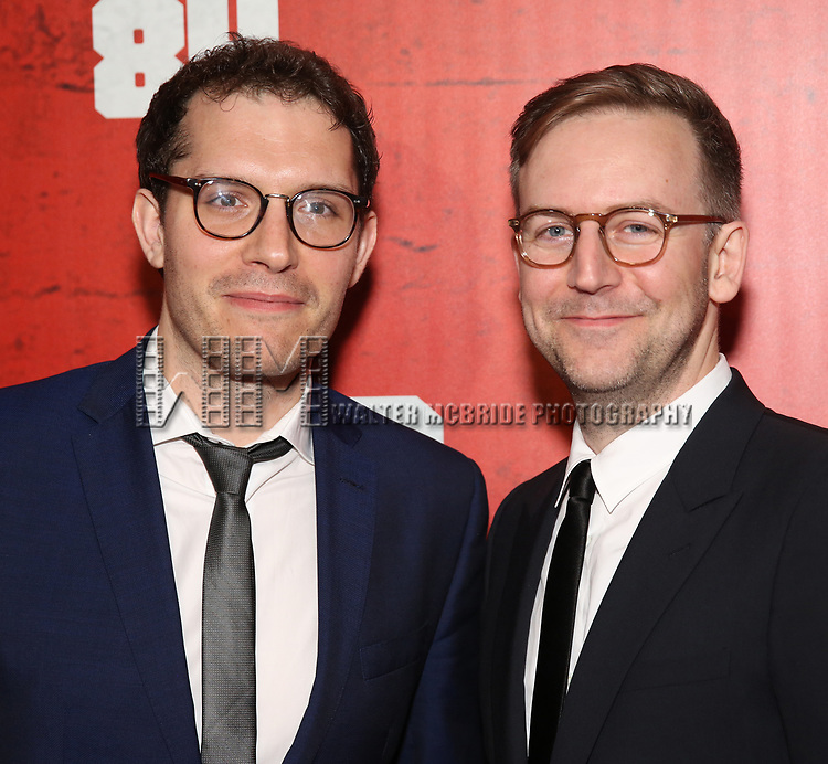 Robert Icke and Duncan Macmillan attends the Broadway Opening Night Party for George Orwell's '1984' at The Lighthouse Pier 61 on June 22, 2017 in New York City.