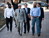 Former adviser to United States President Donald J. Trump, Roger Stone, and his entourage walk towards the US District Court in Washington, DC on Thursday, March 14, 2019. <br /> Credit: Ron Sachs / CNP<br /> (RESTRICTION: NO New York or New Jersey Newspapers or newspapers within a 75 mile radius of New York City)