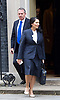 Cabinet Meeting <br /> 10 Downing Street London, Great Britain <br /> 29th March 2017 <br /> <br /> departures following the final cabinet meeting before Article 50 is triggered in Parliament today.<br /> <br /> Liam Fox and Priti Patel leaving <br /> <br /> <br /> Photograph by Elliott Franks <br /> Image licensed to Elliott Franks Photography Services